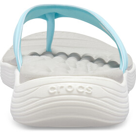 Crocs Reviva Flip Sandals Damen ice blue/white